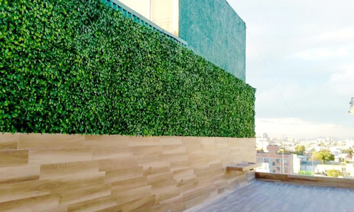 outdoor artificial hedge wall