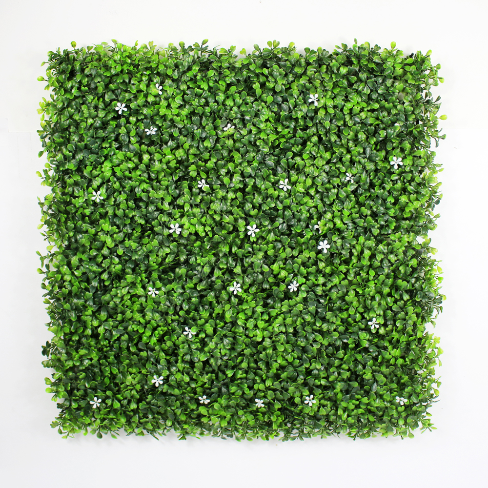 Faux Boxwood mat with Flowers