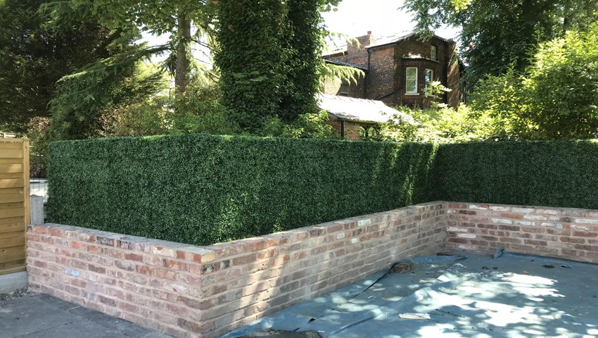 artificial outdoor hedge