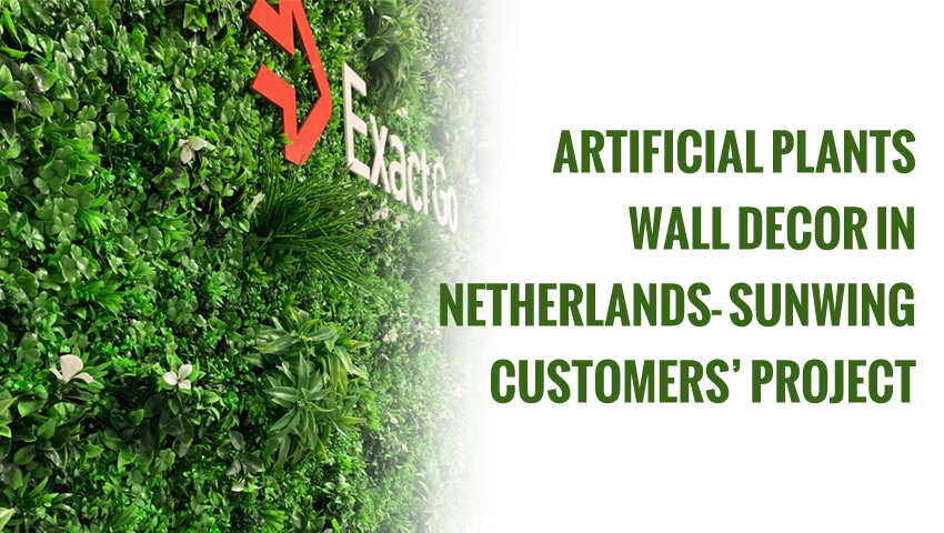 Artificial plant wall project