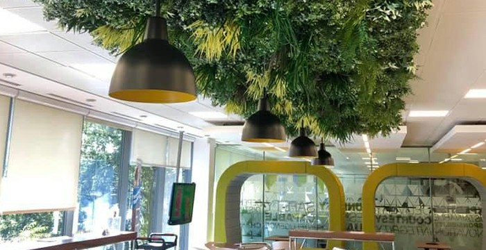 Green Impossible Places with Faux Plants