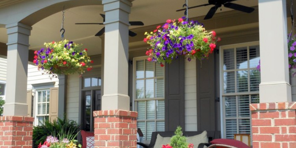 artificial hanging baskets for outdoor porches