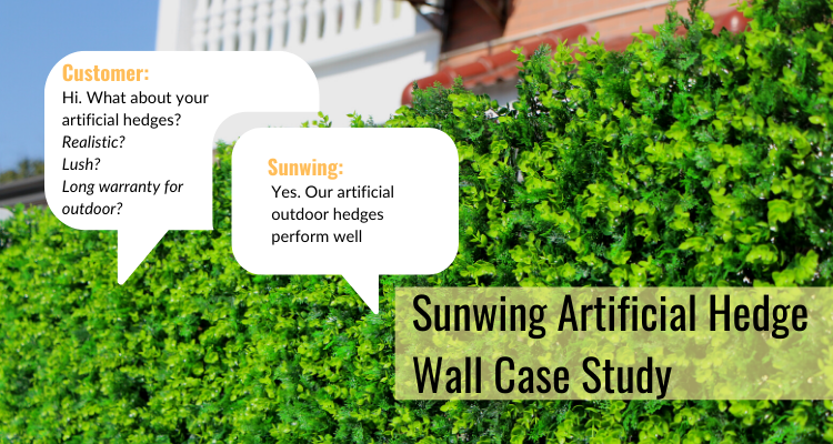Suwing Outdoor Artificial Hedge Wall Case Study